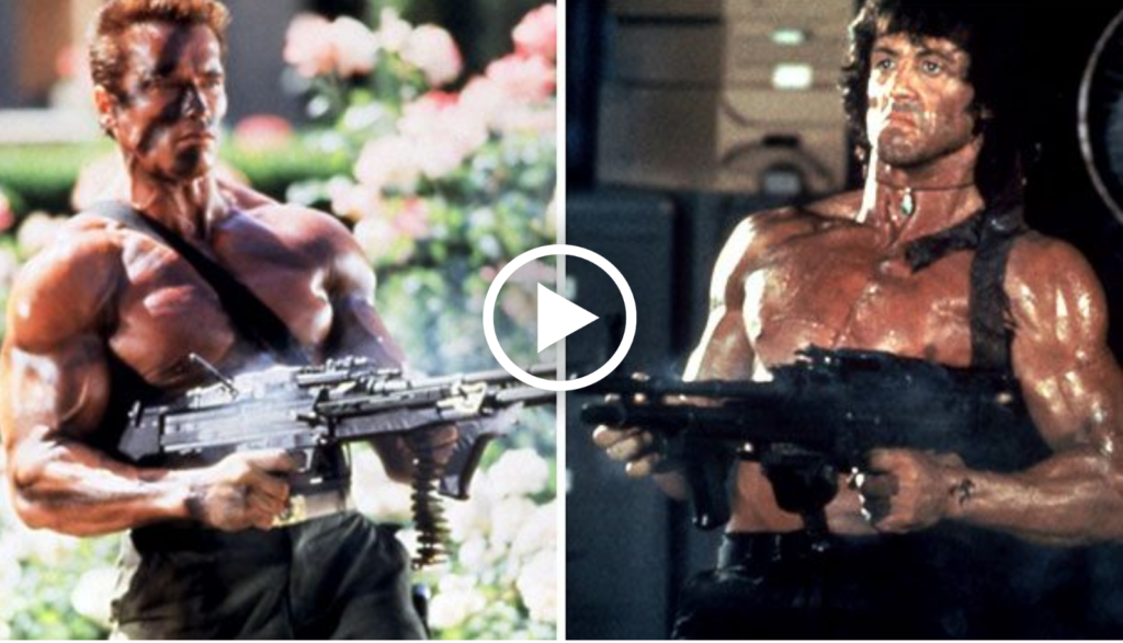 Perhaps No Rivalry In Cinematic History Is As Legendary The One Between Arnold Schwarzenegger And Sylvester Stallone What A Marvel It That Two Of