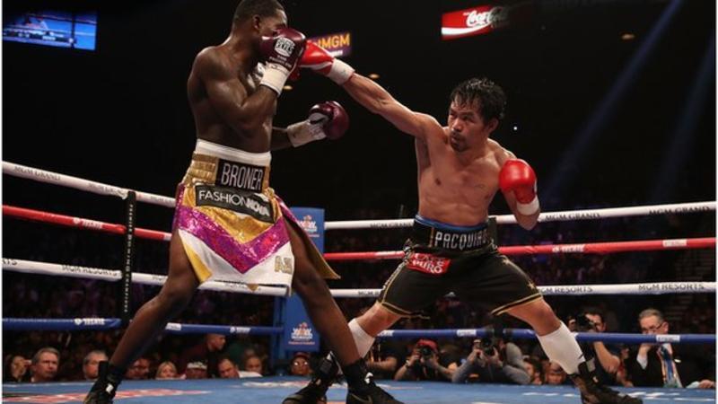 Manny Pacquiao beats Adrien Broner